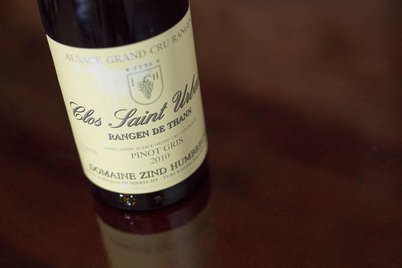 2010 Domaine Zind-Humbrecht Clos Saint Urbain Grand Cru Rangen de Thann Alsace Pinot Gris ©Kevin Day/Opening a Bottle