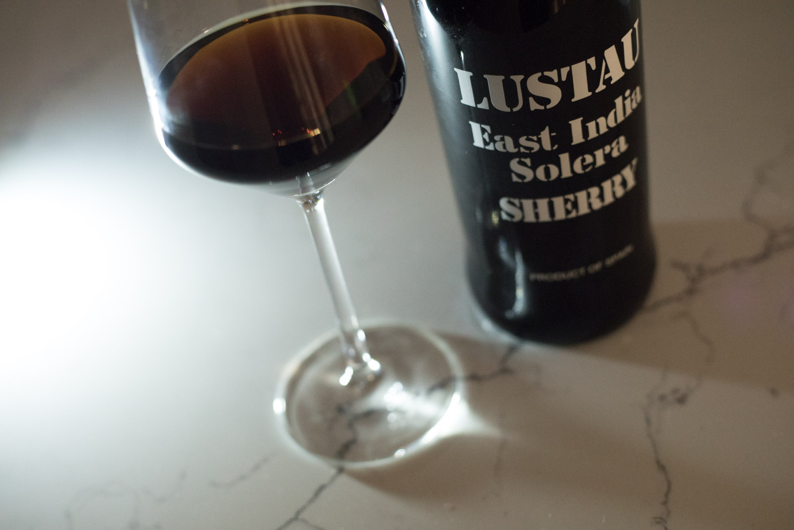 NV Emilio Lustau East India Solera Sherry. Dessert wines and sweet wines for Christmas. Opening a Bottle special wine tasting report. ©Kevin Day/Opening a Bottle