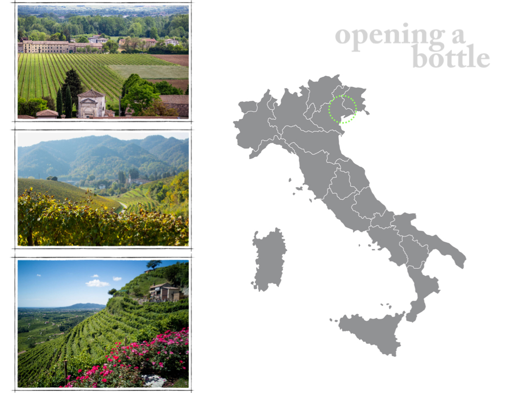Prosecco map and images ©Kevin Day/Opening a Bottle