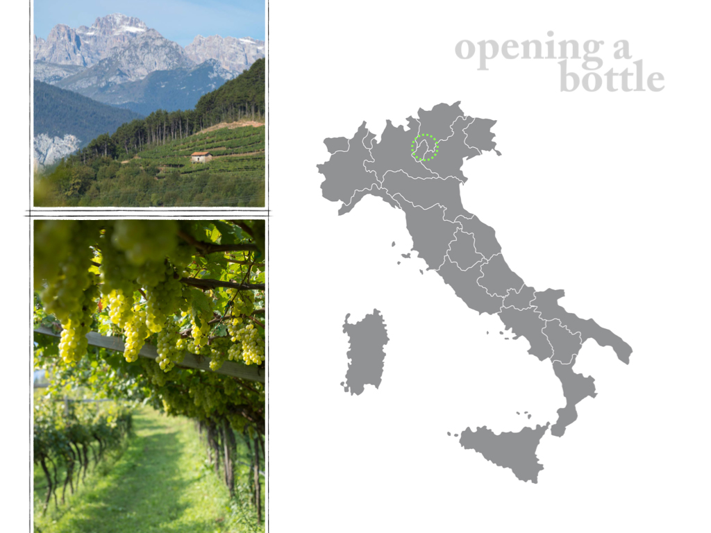 Trentodoc map and images ©Kevin Day/Opening a Bottle