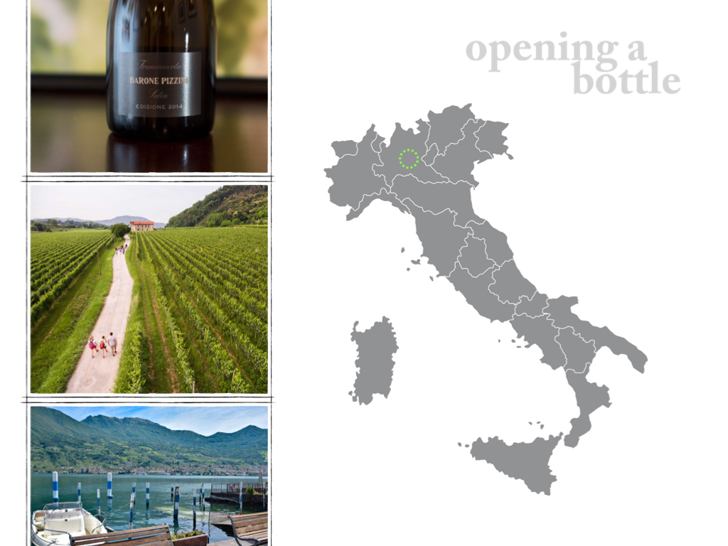 Franciacorta map and images ©Kevin Day/Opening a Bottle