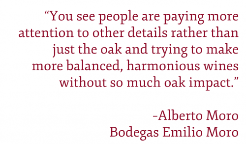 Alberto Moro of Emilio Moro quote on Ribera del Duero's evolving style