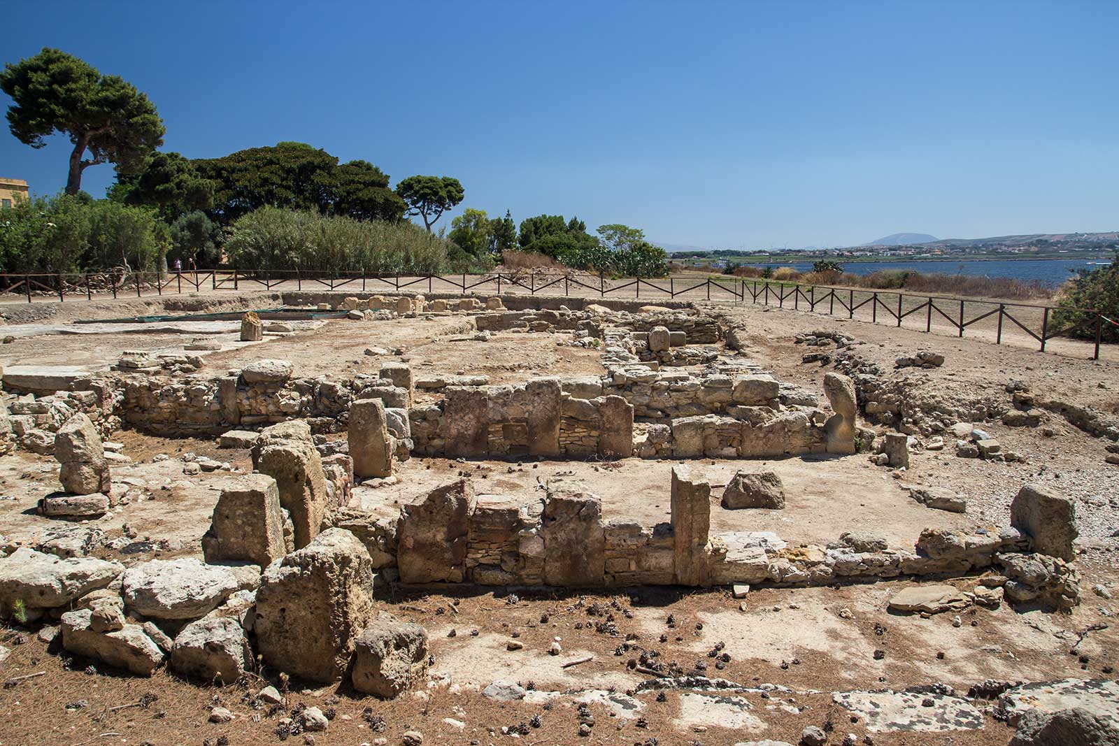 The remains of a Phoenician settlement on the island of Mozia. Stock photo.