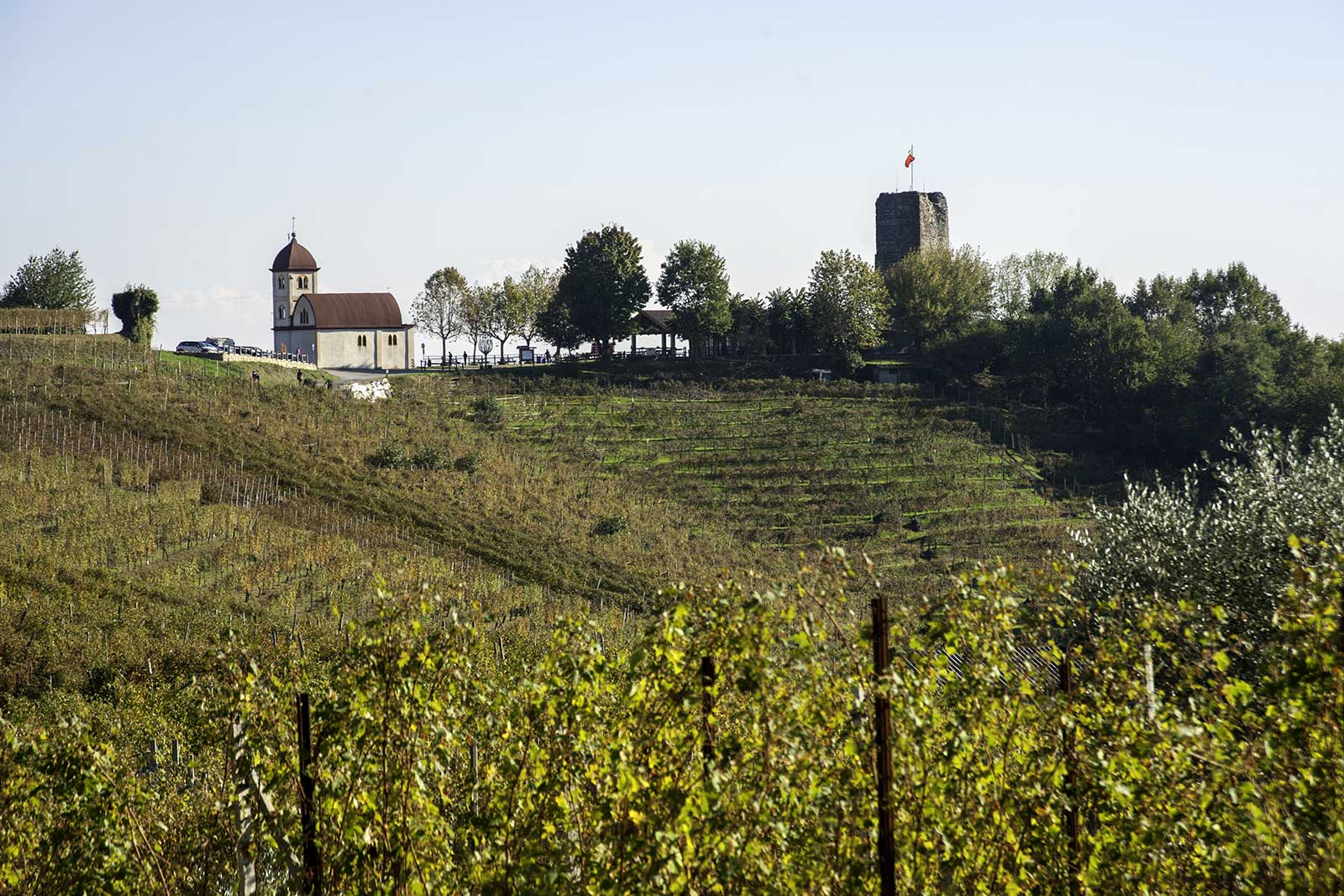 Torre delle Castelle (Tower Castle) is the icon of Gattinara, crowing the hill of many of the DOCG's top crus. (Stock photo)