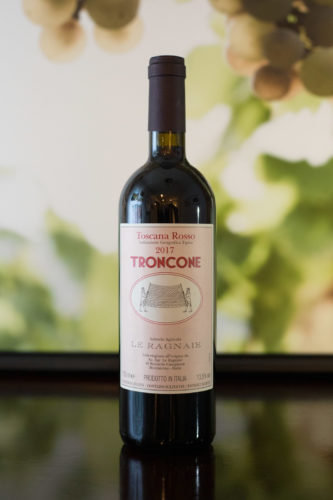 """2017 Le Ragnie """"Troncone"""" Toscano Rosso ©Kevin Day/Opening a Bottle"""