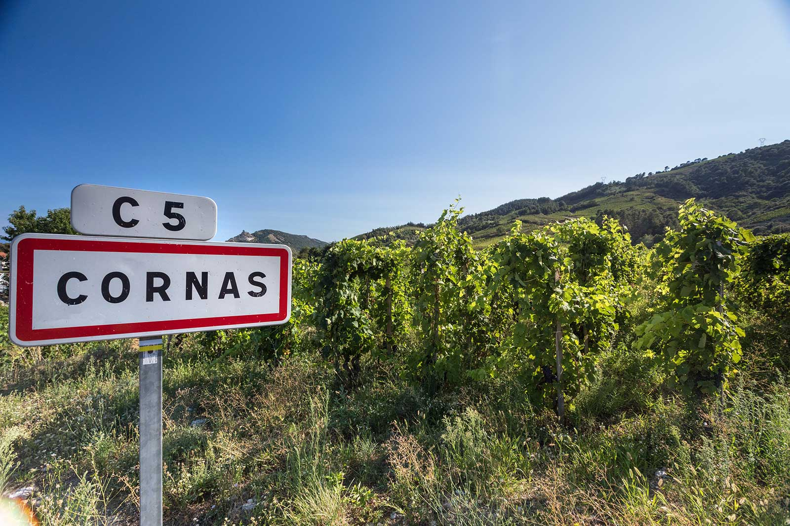 The appellation shares its name with the village of Cornas. ©Bernard Favre