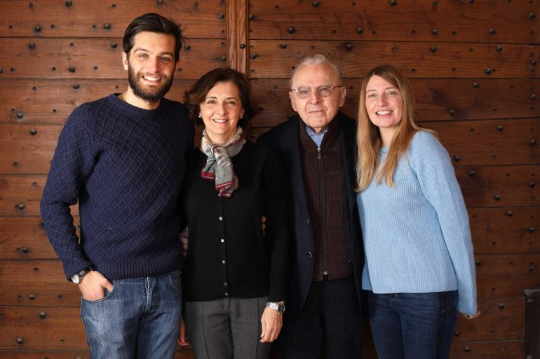 Pietro, Maria Cristina, Giacomo and Isabella Oddero. ©Odder