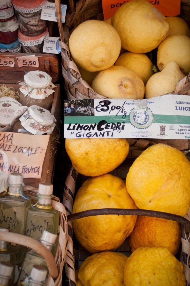 Lemons for sale on the Amalfi Coast. ©Hailey Day