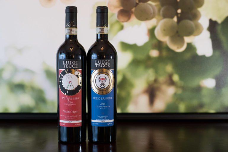 "The 2014 Luigi Tecce ""Poliphemo"" Taurasi Riserva and 2014 Luigi Tecce ""Puro Sangue"" Taurasi ©Kevin Day/Opening a Bottle"