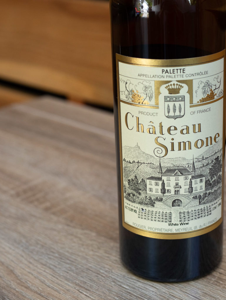 2012 Château Simone Palette Blanc ©Kevin Day/Opening a Bottle