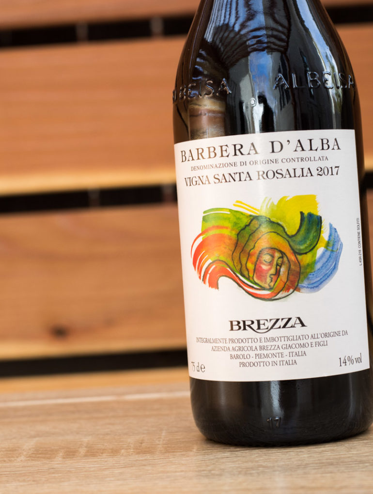 "2017 Brezza ""Vigna Santa Rosalina"" Barbera d'Alba ©Kevin Day/Opening a Bottle"