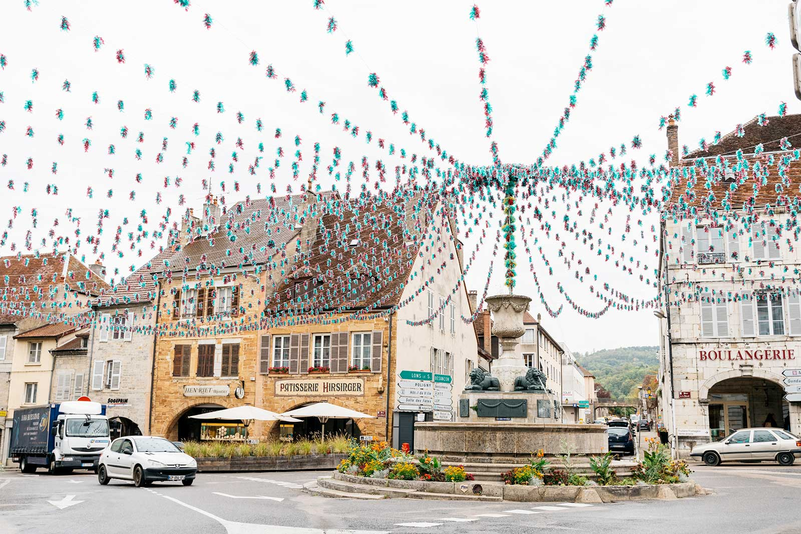 Downtown Arbois, in the heart of the Jura. / ©Cecilia Magnusson